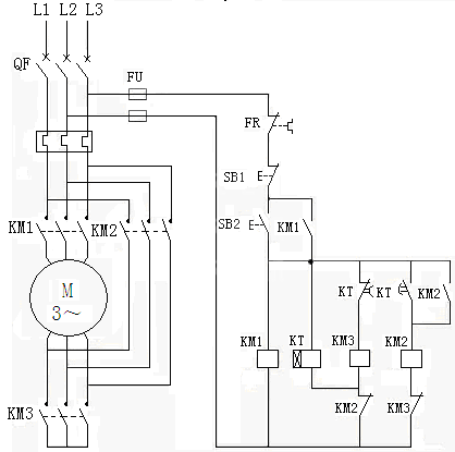 电机星,三角启动电路及起动时间计算